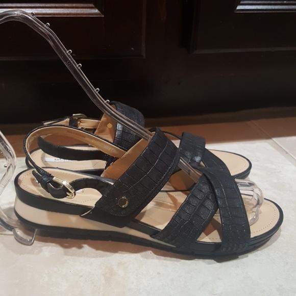 3dd55990d1a GEOX Respira Black Leather Sandals - Size 37
